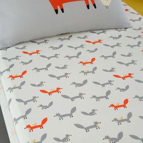 Fitted Bed Sheets Cot Mister Fox