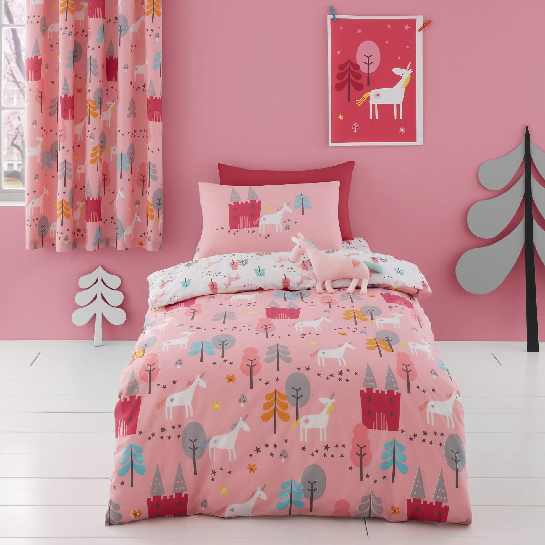 Bed Sheets Duvet Cover Set for Cotbed Unicornland