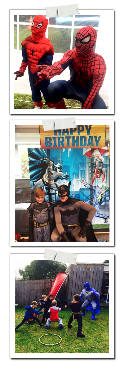 Superhero Batman Spiderman Parties