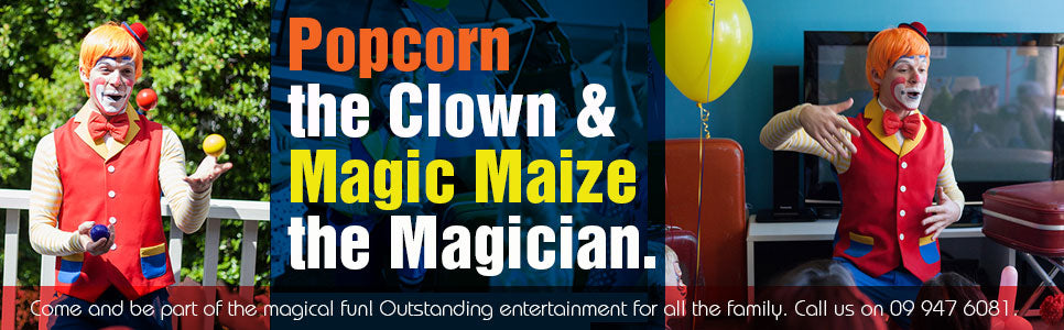Popcorn the Clown. Cornflakes Magic World.