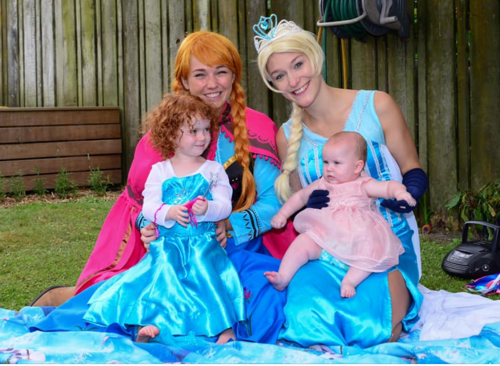 Elsa and Anna Frozen Entertainers Auckland