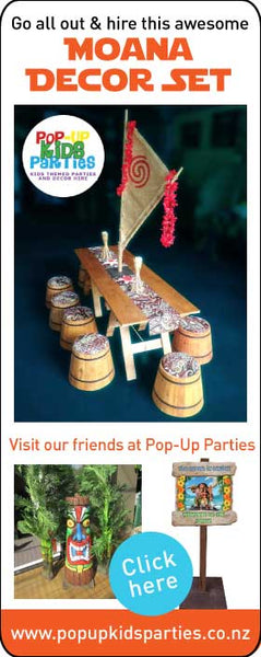 Moana Party Decor Hire Auckland