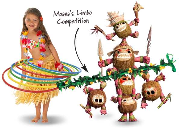 Moana Limbo and Hula Hoops