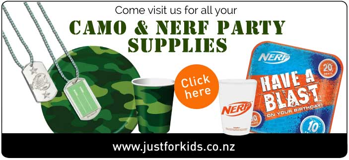 Nerf Party Supplies & Decorations NZ