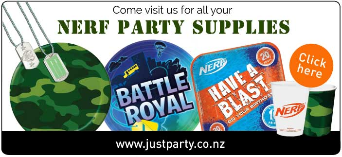 nerf army inspired party decorations NZ