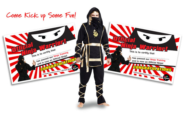 Ninja Certificates Party At Yours NZ