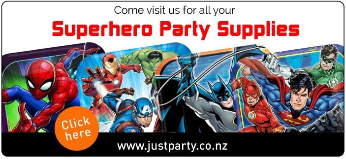 Superhero Party supplies and Decorations NZ