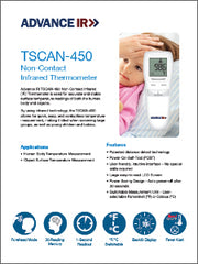 Advance IR | TSCAN-450 Non-contact Infrared Thermometer