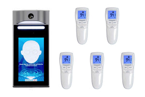 TSCAN Bundle - Non-Contact Infrared Temperature Scan Kiosk with 5 Handheld Thermometers