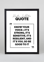 Load image into Gallery viewer, Kristin Linklater Quote - Wall Art
