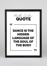Load image into Gallery viewer, Dance is the language of the soul Quote - Wall Art