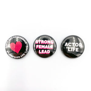 Actor Badges (Pack of 3)
