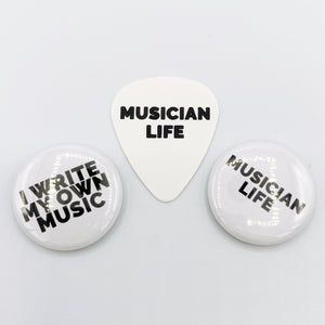 I write my own music Badge