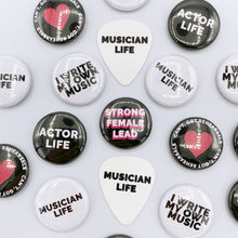 Load image into Gallery viewer, Musician Badges + Plectrum