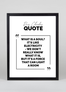 Ray Charles Quote - Wall Art