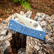 Load image into Gallery viewer, Spyderco Watu Hole Delete Blue Jay V1