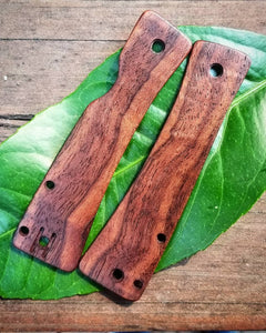 Walnut Watu Scales with the holes deleted