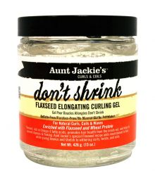 AUNT JACKIE'S DON'T SHRINK FLAXSEED ELONGATING CURLING GEL, 15 oz