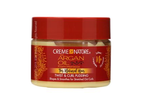 CREME OF NATURE ARGAN OIL FOR NATURAL HAIR TWIST & CURL PUDDING