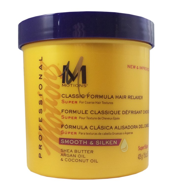 MOTIONS PROFESSIONAL SMOOTH & STRAIGHTEN CLASSIC FORMULA HAIR RELAXER (SUPER), 15 oz