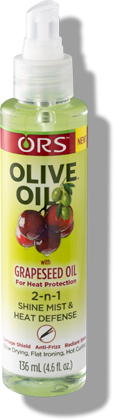 ORS Olive Oil 2-n-1 Shine Mist & Heat Defense, 4.6 fl. Oz.