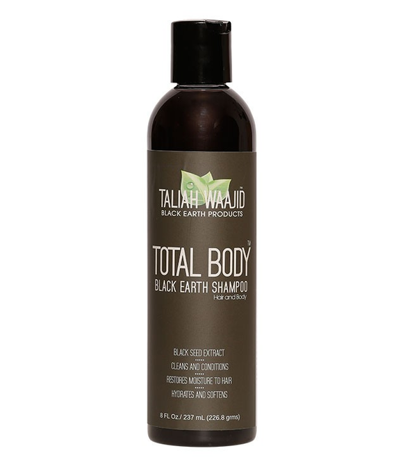 Taliah Waajid Total Body Black Earth Shampoo, 8 oz