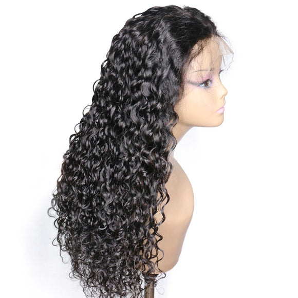 WATER WAVE VIRGIN HAIR FRONT LACE WIG