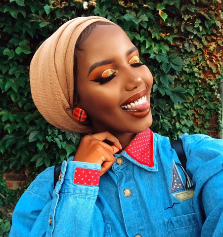 Pinterest credit, woman of color photo, makeup looks for dark skin