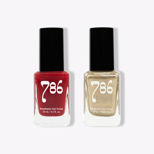 Agra and Dubai - Halal Nail Polish (2 Piece Set) - 786 Cosmetics