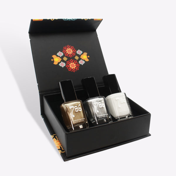 Nail Art Nail Polish Set (3 Piece) - 786 Cosmetics