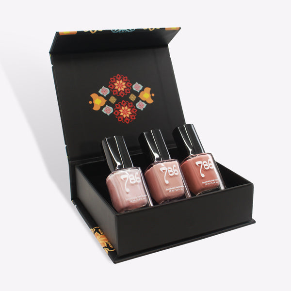 Pink Nail Polish Set (3 Piece) - 786 Cosmetics