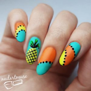 Summer Nail Art Dots