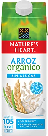 Leche de Arroz Orgánico Sin Azúcar (946 ml) - Nature´s Heart