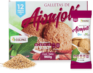 Galletas de Ajonjolí  (12 pack) - Colpac