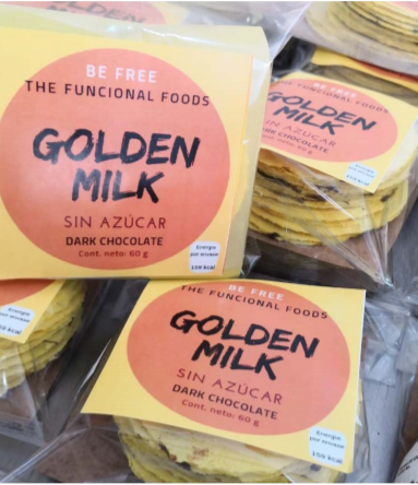 Oblea Golden Milk rellena (9 pzas)  - Be free