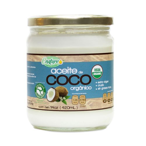 Aceite de Coco Virgen (420 ml) - E-NATURE