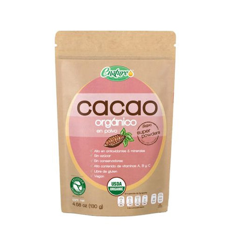 Cacao Orgánico Super Powders (130 gr) - E-NATURE