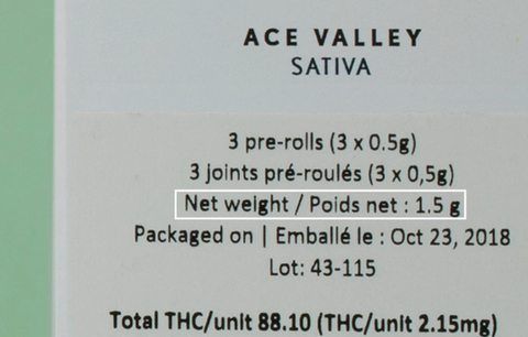 how to read cannabis product label, weigh