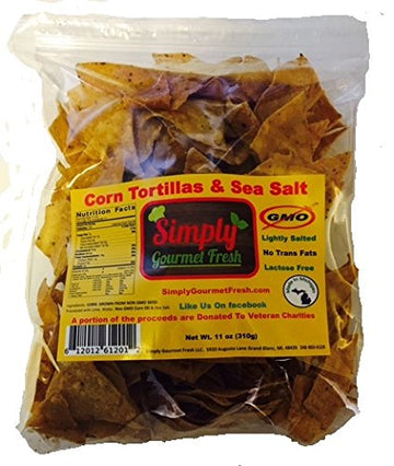 Simply Gourmet Fresh - Corn Tortillas and Sea salt -11oz bag