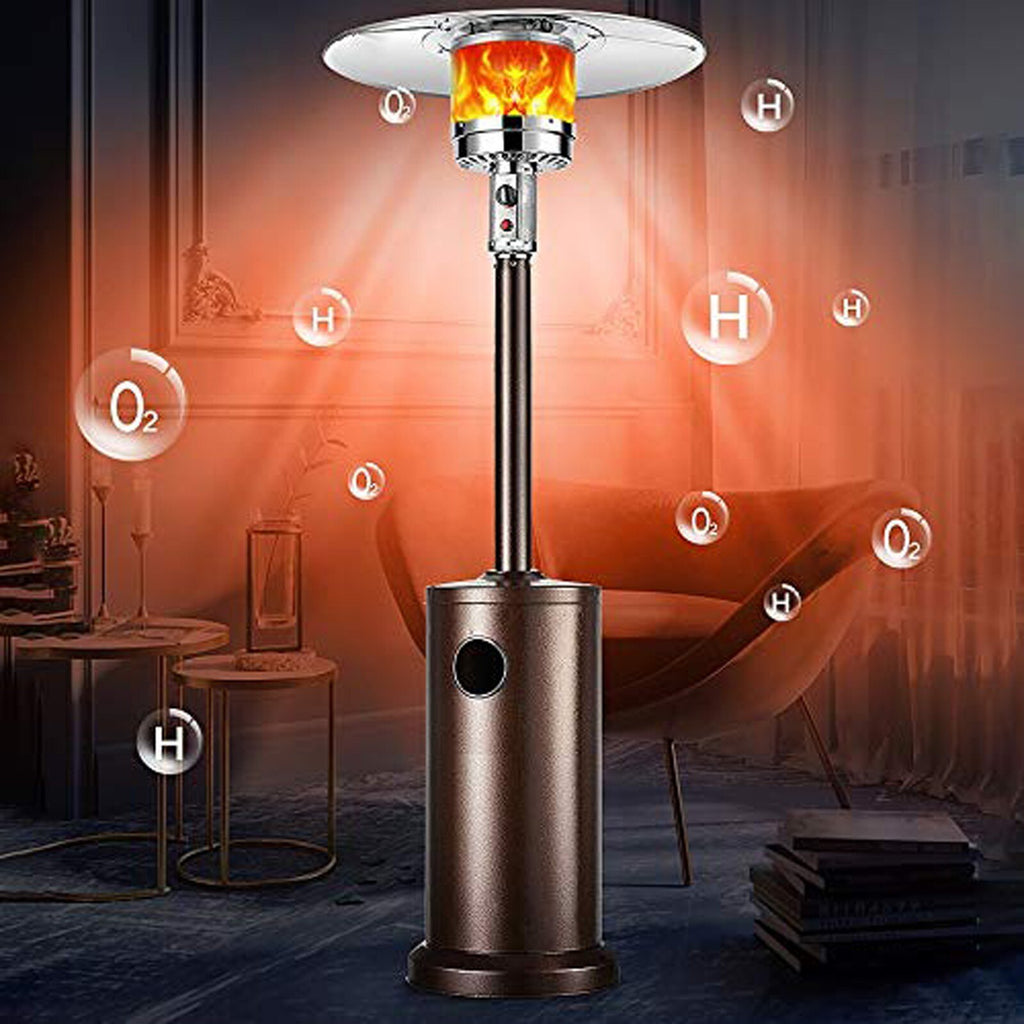 Delux Propane Patio Heater with Wheels and Table