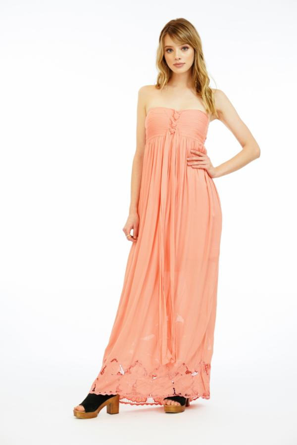 Jasmine Maxi Dress Embroidered