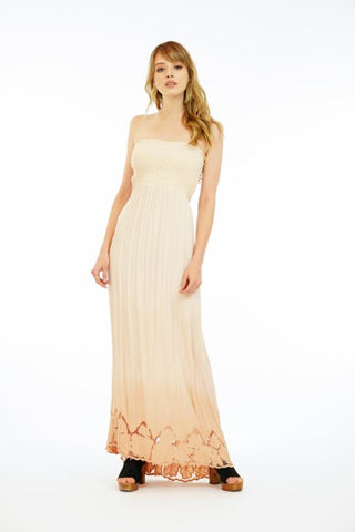 Embroidered Kai Long Dress