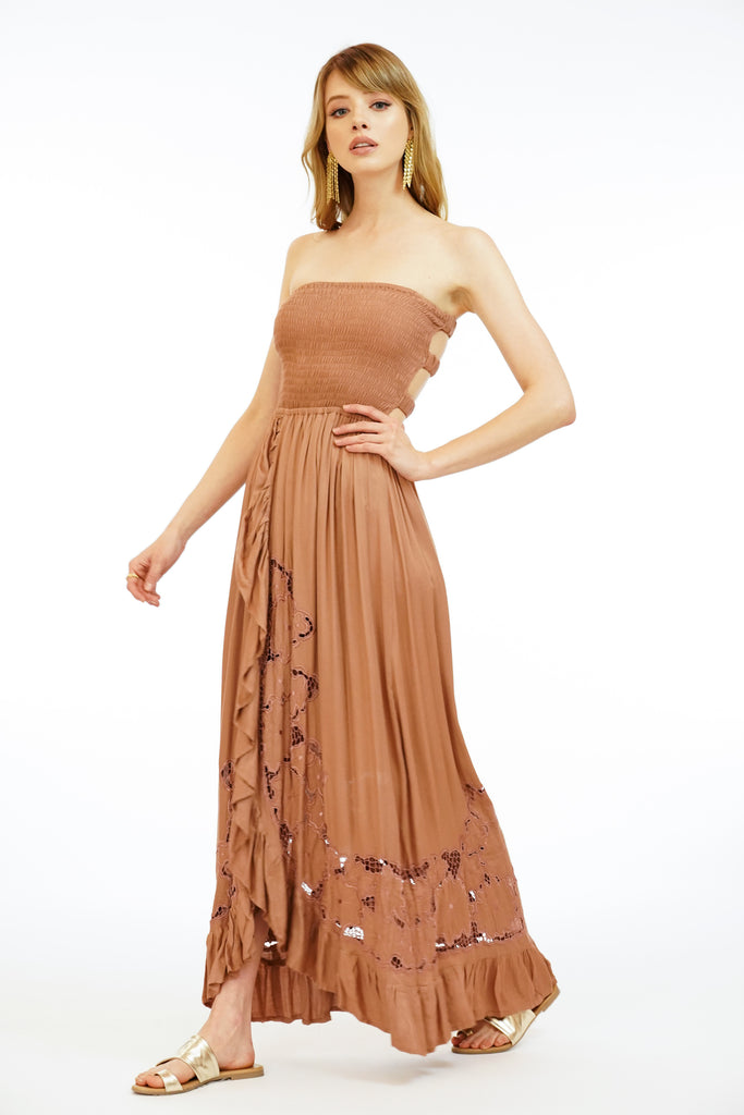 Eri Maxi Dress Embroidered