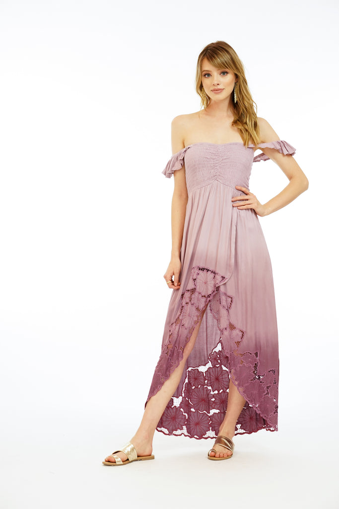 Paradise Maxi Dress Embroidered