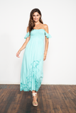 Hollie Long Dress (Embroidered)