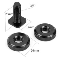 "3/8"" Tripod Mount Screw to Flash Hot Shoe Adapter"