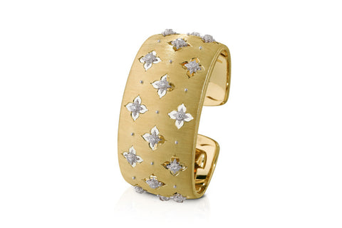 BUCCELLATI-MACRI-GIGLIO-CUFF-BRACELET-DIAMONDS-YELLOW-GOLD-W178YZ