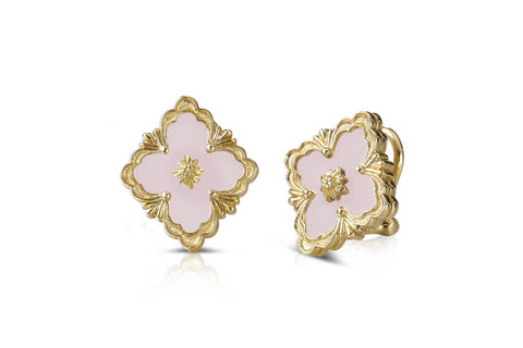 BUCCELLATI-OPERA-BUTTON-EARRINGS-PINK-OPAL-YELLOW-GOLD-B178U3