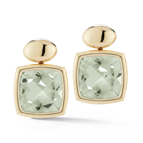 A & Furst - Gaia Drop Earrings with Prasiolite, 18k Yellow Gold