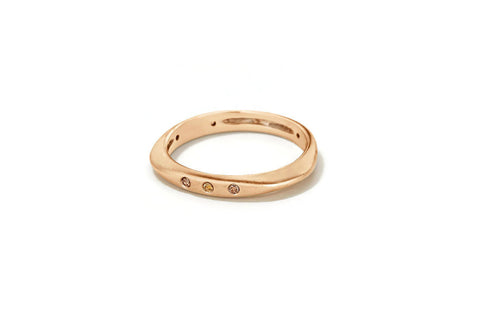 "Sandy Leong ""Halo"" Ring, Diamonds 18k Champagne  Gold"